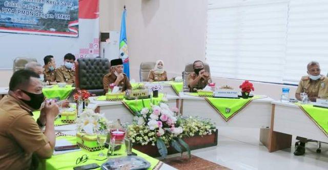 Bupati Pringsewu Ikuti Acara Penandatanganan Perjanjian Kerjasama Kemitraan PMA-PMDN Dengan UMKM