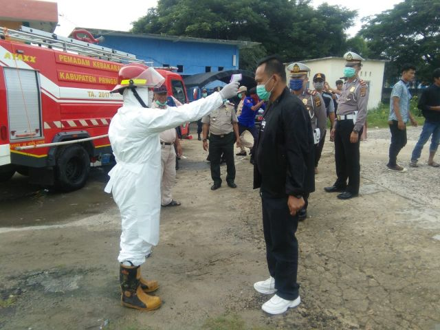 Wabup Pringsewu Pantau Kesiapsiagaan Gugus Tugas Penanganan Covid-19 Kabupaten Pringsewu