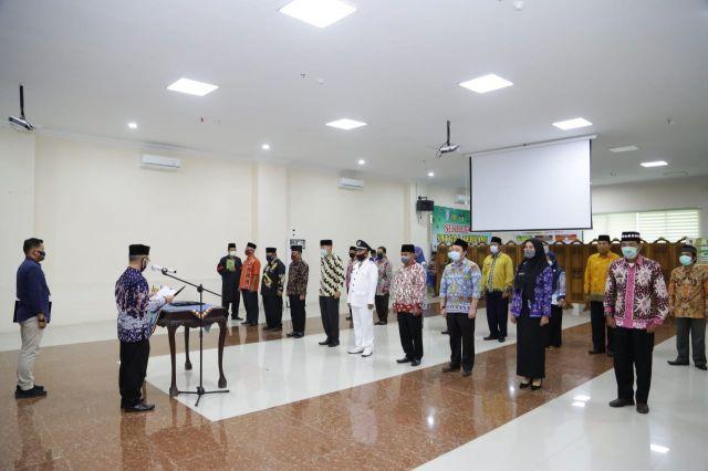 5 Pejabat Administrator & 13 Pejabat Pengawas di Lingkup Pemkab Pringsewu Dilantik