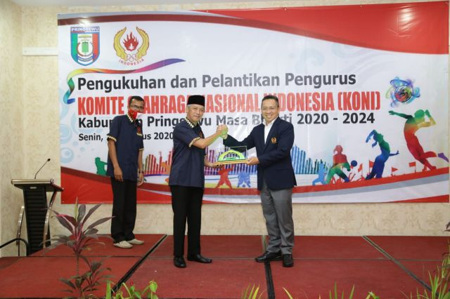 Pengurus KONI Kabupaten Pringsewu Dilantik