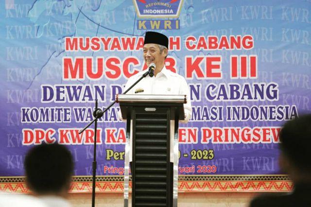 Bupati Pringsewu Buka Muscab III KWRI Pringsewu, Mega Utama Terpilih Sebagai Ketua